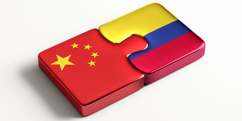 banderas China y Colombia