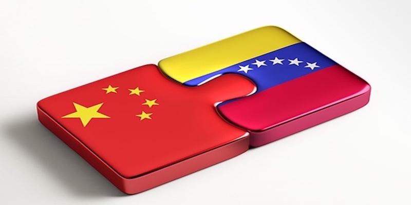 banderas de China y Venezuela