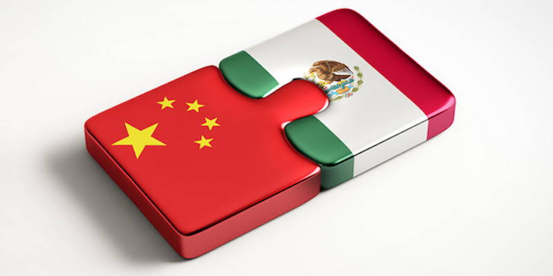 banderas México y China