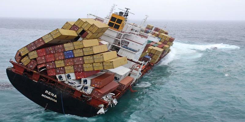 Asegurar la carga dentro del contenedor